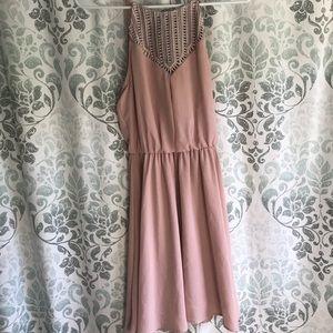 Lush short blush pink dress Size small